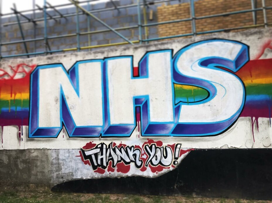 Some street art we definitely approve of! Don't forget to join in at 8pm tonight  . . . . . clapfornhs clapforourcarers clapforkeyworkers  staystrong stayhome staysafe streetart londonart thursdayvibes