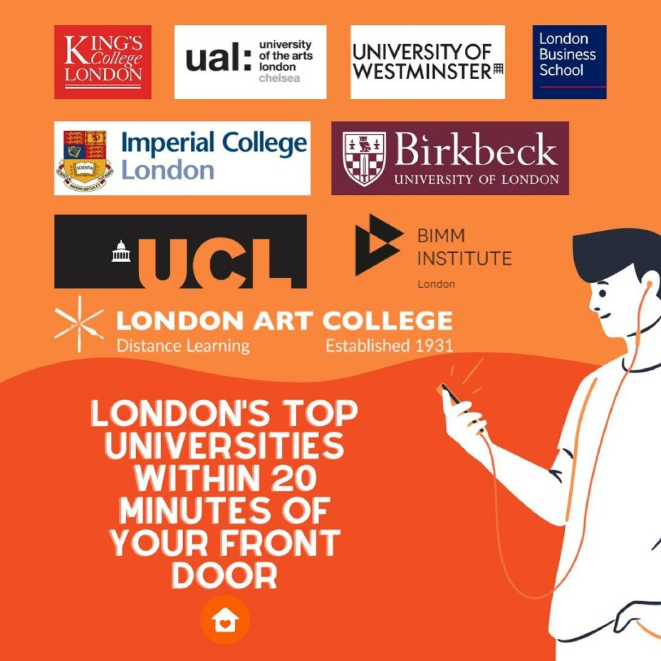 LouiseHouse will be perfect home for you if you are studying in London and want to live in Zone 1. Kings College, Imperial College, UCL, and Westminster University will all be within 20 minutes of your front door. louisehouselondon london