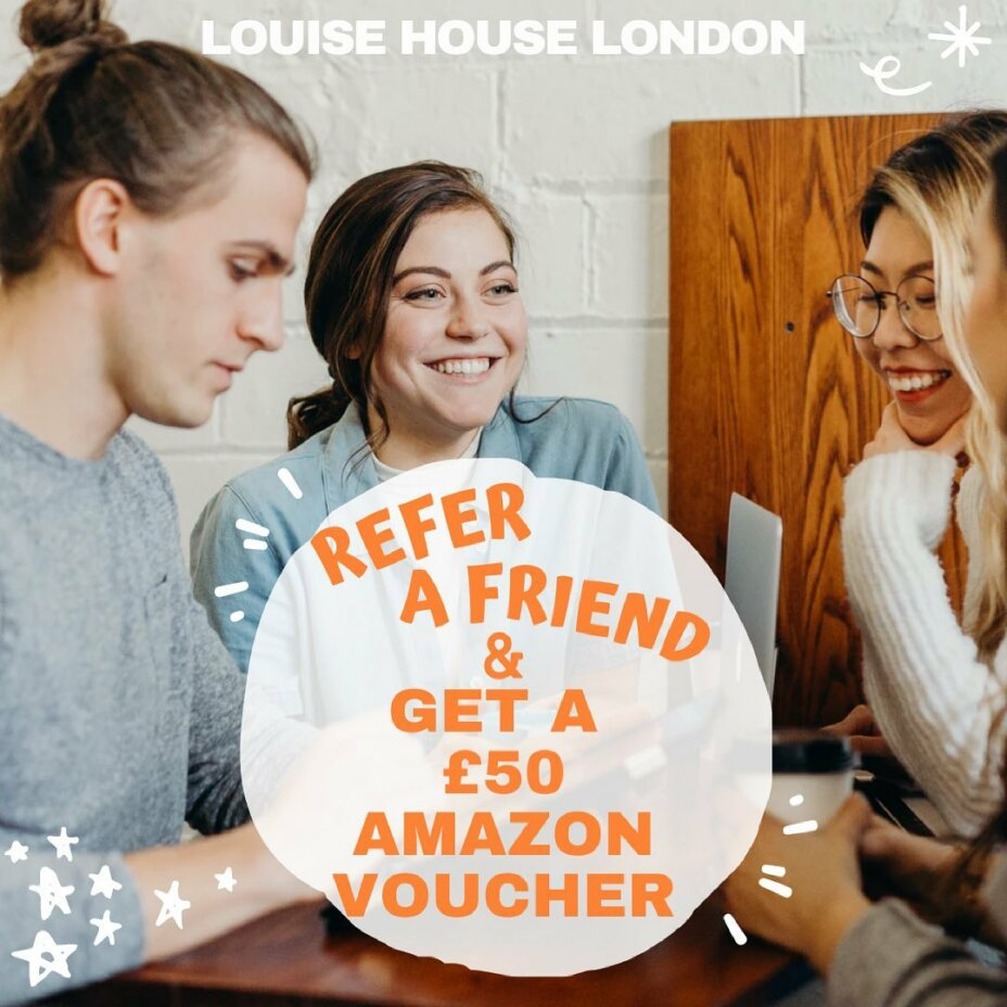 Refer a friend and you could both earn rewards! 🥳 🧐Qualifying students will receive a £50 Amazon e-voucher code for each friend they refer during the Entry Period. To qualify, the Referee must accept their contracts and pay either