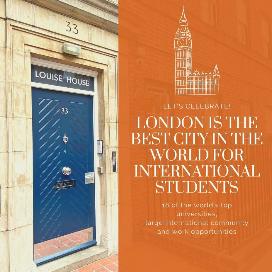 London is officially the best city for international students  Stay at Louise House in central London to get the full UK experience